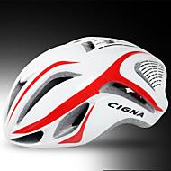 CIGNA Voksen Bike Helmet 17 Ventiler Nedslags Resistent, Justérbar pasform EPS, PC Sport Vej Cykling - Sort / Blå / Hvid+Rød / Hvid+Grå Herre / Dame