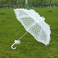 "billiga Brudparaplyer-Posthandtag Spets Bröllop Paraply Paraplyer 28.4""(ca. 72cm)"