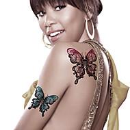 billiga Temporära tatueringar-2 Tecknat Smyckeserier Djurserier Blomserier Totemserier tecknad serie Tatueringsklistermärken