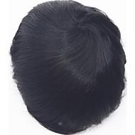 süper ince deri 0.06mm pu v döngü doğal başlık pu ince deri erkek peruk