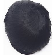 Super thin skin 0.06mm pu v loop natural headline pu thin skin men toupee