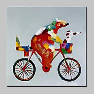 nagy kézzel festett olajfestmény modern absztrakt állatot medve vászon képet feszített keret készen akasztani