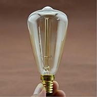 真珠の周りE14 ac220-240v 40ワットシルク炭素フィラメントの白熱電球のT48