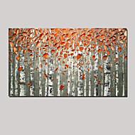 billiga Landskapsmålningar-Hang målad oljemålning HANDMÅLAD - Landskap / Stilleben / fantasi Parfymerad / Europeisk Stil Duk