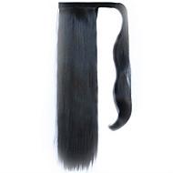 """קוקו סינתטי בטמפרטורה גבוהה פאה חוט ישר שיער שחור 60 ס""""מ צבע 2"""