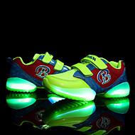 baratos Sapatos de Menino-Para Meninos Para Meninas Sapatos Tule Inverno Primavera Verão Outono Conforto Tênis com LED Tênis Sem Salto Colchete LED para Casual