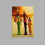 עיצוב מסעדה הביתה ציור שמן נשים אפריקניות מופשט מצויר ביד עם מסגרת מתוחה