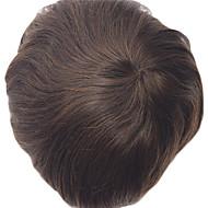 erkekler saç parçası sistemi için belirlenemeyen süper ince deri erkek peruk tam pu peruk