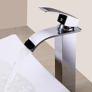 cheap Sprinkle® Faucets-Contemporary  with  Chrome Single Handle One Hole  for Waterfall