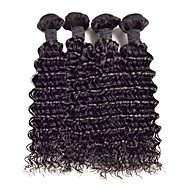 4 Bundles Deep Curly Malaysia Virgin Hair Extensions Weft Human Hair Weave lot8-26inch Hot Sale.