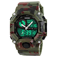 SKMEI Herre Sportsur Armbåndsur Digital Watch Quartz Digital 30 m Vandafvisende Alarm Kalender Gummi Bånd Analog-digital Luksus camouflage Grøn Kakifarvet / Kronograf / Selvlysende / LCD / Stopur