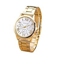 billige Quartz-Dame Quartz Armbåndsur Afslappet Ur Rustfrit stål Bånd Vedhæng Mode Guld