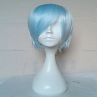 Top Quality Capless  Light Blue Wig  Short Straight  Synthetic Hair Wig  Cosplay  Wig