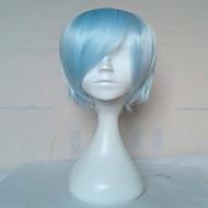 Γυναικείο Συνθετικές Περούκες Χωρίς κάλυμμα Κοντό Ίσια Μπλε Απαλό Απόκριες Περούκα Καρναβάλι περούκα φορεσιά περούκες