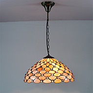 זול תאורה ומאווררים לתקרה-טיפאני מנורות תלויות עבור סלון חדר שינה מטבח חדר אוכל משרד כניסה חדר משחק מסדרון נורה אינה כלולה