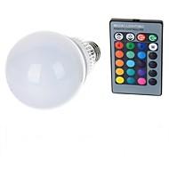 10W E26/E27 LED-globepærer A70 1 leds Høyeffekts-LED Fjernstyrt RGB 100-200lm 2000-3500K AC 85-265V