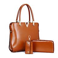 Χαμηλού Κόστους Σετ τσάντες-Γυναικεία Τσάντες PU Tote / Κάλυμμα / Σετ τσάντα 3 σετ Σετ τσαντών Καφέ / Κόκκινο / Μπλε