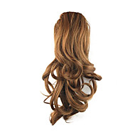 14 inch Medium Auburn Drawstring Curly Ponytails Elastic Synthetic Hair Piece Hair Extension