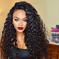 Echt haar Volledig Kant Pruik Golvend 130% Dichtheid 100% handgebonden Afro-Amerikaanse pruik Natuurlijke haarlijn Medium Lang Dames