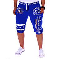 ieftine -Bărbați Activ Bumbac Larg / Pantaloni Sport Pantaloni Scrisă