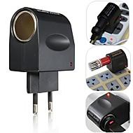 european nový stylový možná cena 220V AC na 12V DC auto lehčí stěny elektrické zásuvky převodník konektor adaptéru