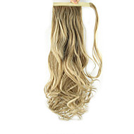 24 inch Strawberry Blonde/Light Blonde Clip In Wavy Curly Ponytails Wrap Around Synthetic Hair Piece Hair Extension