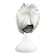 Synthetische Perücken Glatt Synthetische Haare Grau Perücke Herrn Kappenlos Silber