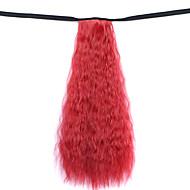 perruque rouge 50cm eau synthétique fil à haute température prêle de maïs chaude couleur 130m