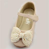 baratos Sapatos de Menina-Para Meninas Sapatos Microfibra Primavera Verão Conforto Rasos para Preto / Rosa claro / Ivory