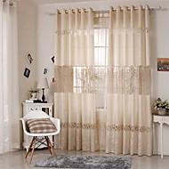 Anéis Único Plissado Dois Painéis Tratamento janela Europeu , Retalhos Sala de Estar Poliéster Material Cortinas cortinas Decoração para