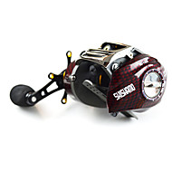 cheap Fishing-Fishing Reel Baitcasting Reels 6.3:1 Gear Ratio+18 Ball Bearings Left-handed Right-handed Bait Casting Lure Fishing