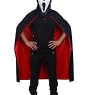 halloween zwart rood kostuum theater prop dood hoody mantel duivel mantel ab dragen lange tippet volwassen hooded cape