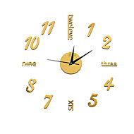 New Arrival Wall Clocks Wall Stickers Pared Watch 3D Diy Acrylic Mirror Quartz Modern Home Decor