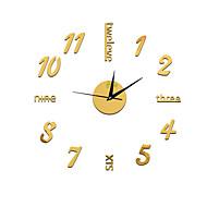 billige Veggklokker-Rund Moderne / Nutidig / Avslappet / Kontor / Bedrift Wall Clock,Ferie / Huse / Inspirerende / Familie / Skole/Studentereksamen / Venner