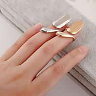 Ringe Sexet Mode Daglig Afslappet Smykker Dame negle Finger Ringe 1 Stk.,4 Gylden Sølv