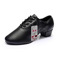 """Muškarci Latinski plesovi Cipele za vježbanje Umjetna koža Štikle Seksi blagdanski kostimi Vezanje Kockasta potpetica 1 """"- 1 3/4"""""""