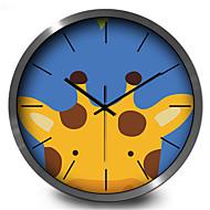 コンテンポラリー その他 壁時計,円形 メタル 屋内/屋外 クロック