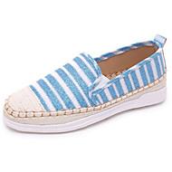 baratos Sapatos Femininos-Mulheres Sapatos Lona Verão Rasos Sem Salto para Preto Prata Cinzento Azul