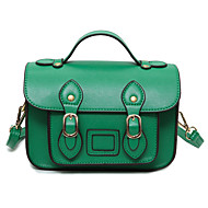 cheap Satchels-Women's Bags PU Shoulder Bag for Casual All Seasons Black Red Green