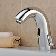 cheap Bathroom Sink Faucets-Bathroom Sink Faucet - Sensor Chrome Centerset Hands free One Hole