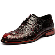 baratos Sapatos Masculinos-Homens Materiais Customizados Primavera / Verão / Outono Conforto Oxfords Preto / Marron / Festas & Noite
