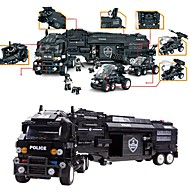 WOMA Blocos de Construir Carro de Polícia Brinquedos Policial Militar Faça Você Mesmo Infantil Para Meninos Rapazes 1542 Peças