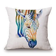 cheap Pillow Covers-pcs Cotton/Linen Pillow Cover, Graphic Prints Wildlife Casual Modern/Contemporary
