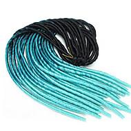 Dread Locks Haarvlechten Havanna Faux Dreadlocks Gehaakte Faux Dreadlocks Dreadlock Extensions 100% Kanekalon Haar Lichtblauw 51cm