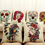 muoti pääkallon kuvio digitaalinen tulostus sohva tyyny puuvilla tyynynpäällinen
