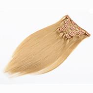 クリップ式 人間の髪の拡張機能 クラシック 人毛 女性用 日常