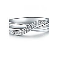 Gyűrűk Divat Esküvő Ékszerek Női Vallomás gyűrűk 1db,5 / 6 / 7 / 8 / 9 / 8½ / 9½ / 4 Ezüst