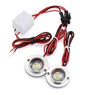 auto 2 led strobe lamp licht noodsituatie waarschuwing flash dc 12v 5w + controller