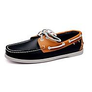 Férfi cipő Bőr Tavasz Nyár Ősz Tél Kényelmes Vitorlás cipők Gyalogló Fűző Kompatibilitás Hétköznapi Bézs Barna Piros