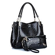 여성 가방 사계절 PU 가방 세트 티어드 용 캐쥬얼 푸른 블랙 루비